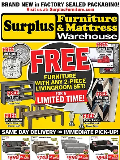 Free Accent! | Surplus Furniture and Mattress Warehouse