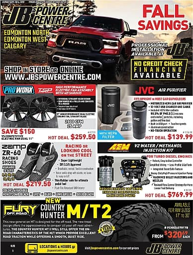 Fall Savings | JB's Power Centre
