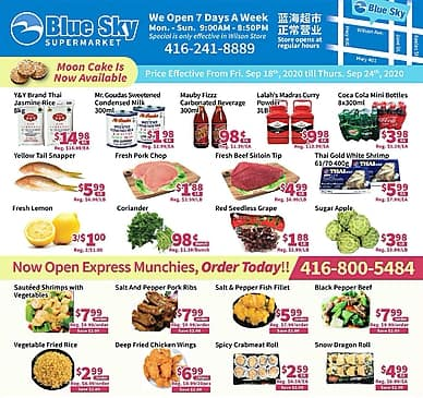 Weekly Flyer | Blue Sky Supermarket