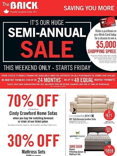 Semi-Annual Sale!   The Brick