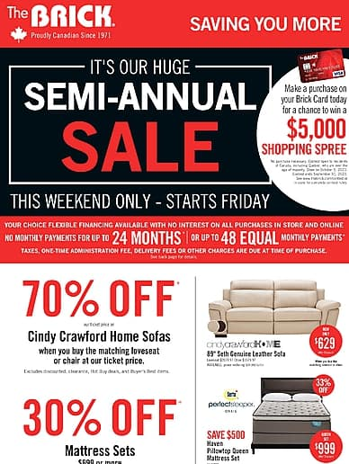 Semi-Annual Sale! | The Brick
