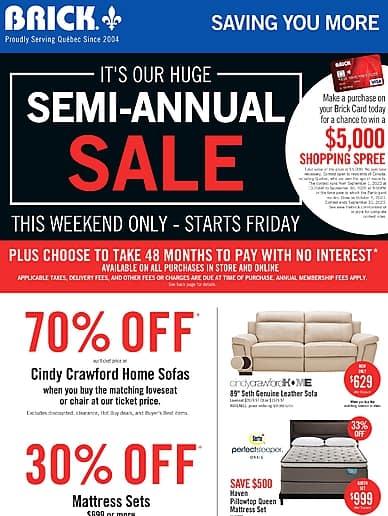 Semi-Annual Sale! | The Brick