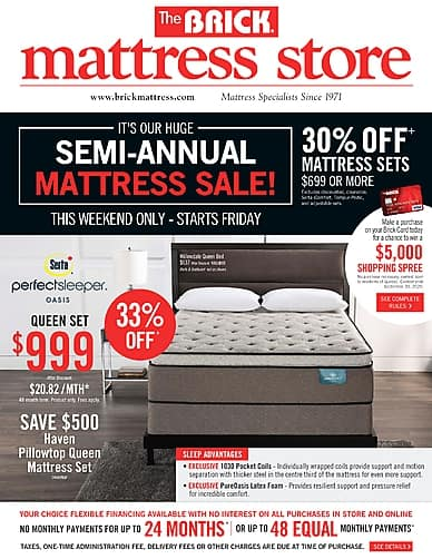 Semi-Annual Mattress Sale | The Brick Mattress Store
