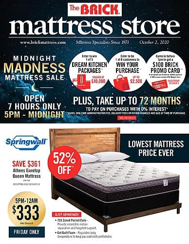 Midnight Madness Mattress Sale | The Brick Mattress Store