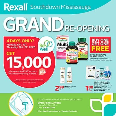 Grand Re-Opening | Rexall