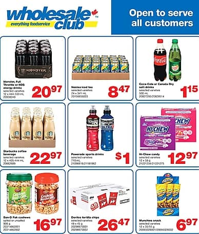 Open to serve all customers | Wholesale Club