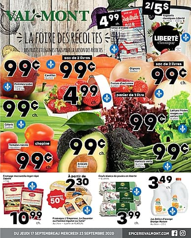 Weekly Flyer | Épicerie Valmont