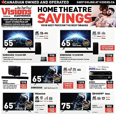 Weekly Flyer | Visions Electronics