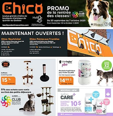 Weekly Flyer | Chico Boutique d'animaux