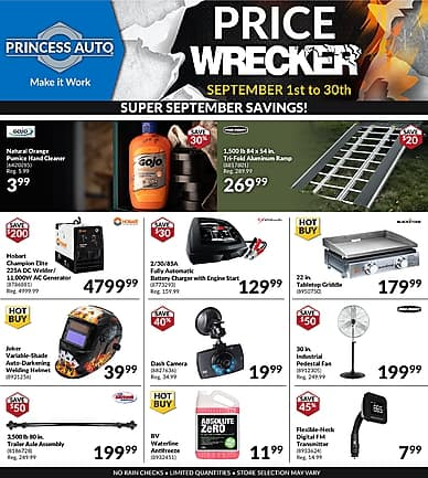 Price Wrecker | Princess Auto