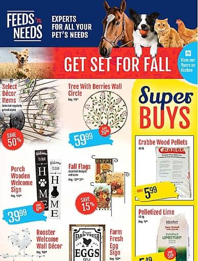 Weekly Flyer   Feeds 'n Needs