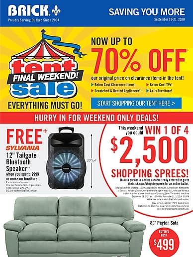 Tent Sale Final Weekend! | The Brick