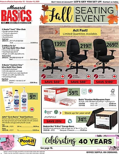 Fall Seating Event! | Monarch Basics