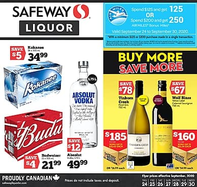Weekly Flyer | Safeway Liquor