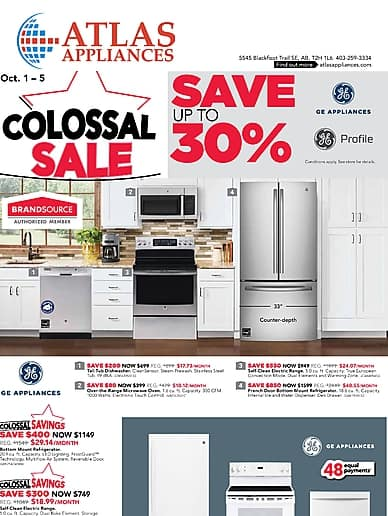Colossal Sale | Atlas Appliances