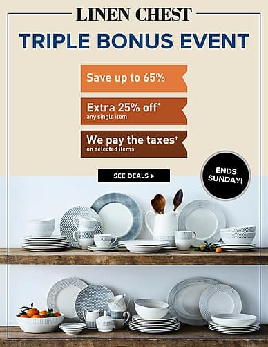 Triple Bonus Event | Linen Chest