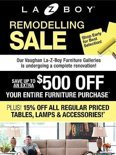 Remodelling Sale | La-Z-Boy