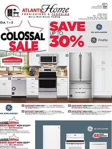 Colossal Sale | Atlantic Home Furnishings