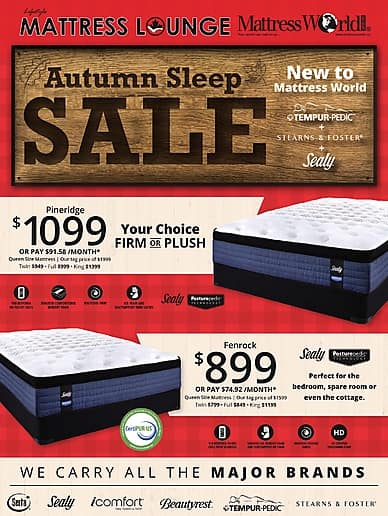 Autumn Sleep Sale | Lifestyle Mattress Lounge