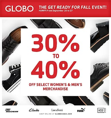 The Get Ready For Fall Event! | Globo Shoes