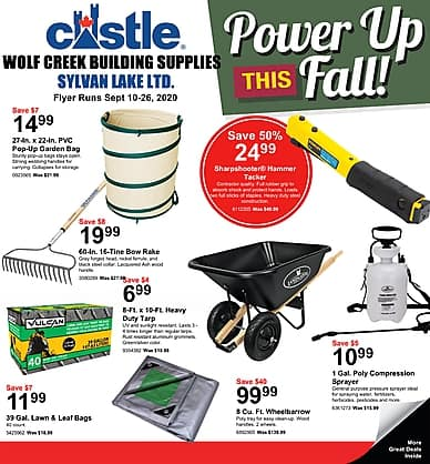 Power Up This Fall! | Wolf Creek Building Supplies