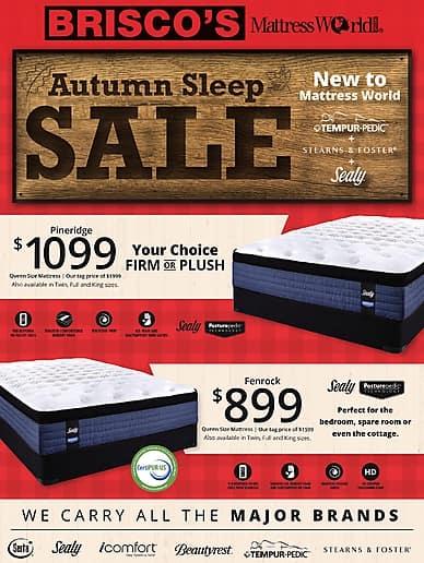 Autumn Sleep Sale | Brisco Furniture & Appliance Ltd.