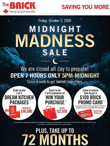 Midnight Madness Sale | The Brick