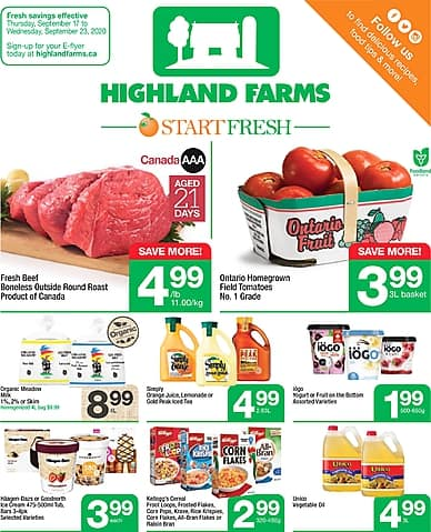 Weekly Flyer | Highland Farms