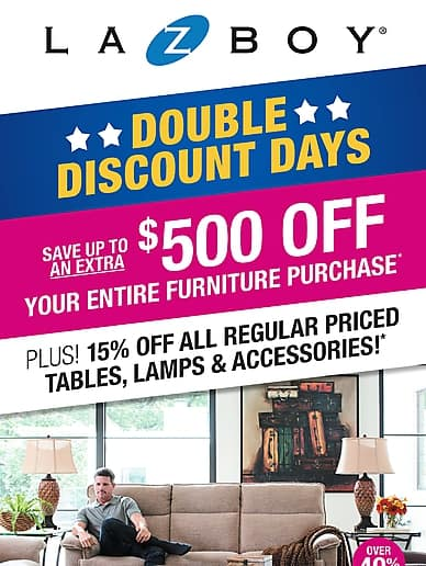 Double Discount Days | La-Z-Boy