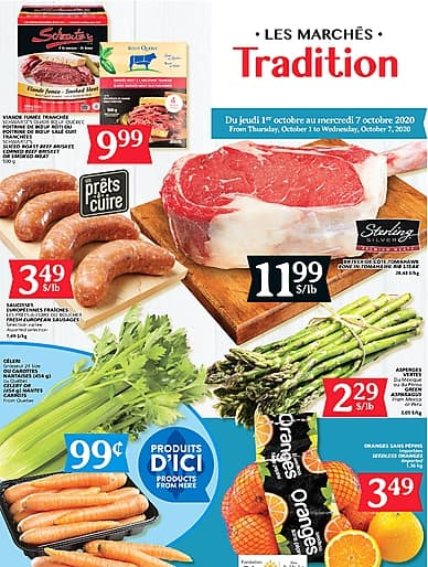 Weekly Flyer | Marché Tradition