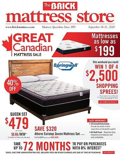 Great Canadian Mattress Sale | The Brick Mattress Store
