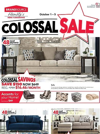 Colossal Sale | Hambly's BrandSource Home Furnishings