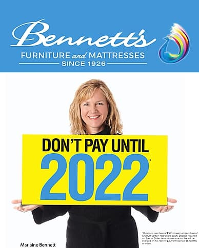 Don't Pay Until 2022   Bennett's Home Furniture and Mattresses