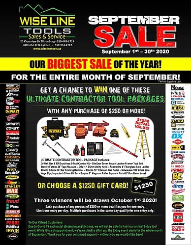 September Sale | Wise Line Tools