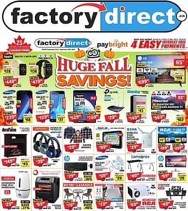 Huge Fall Savings | Factory Direct