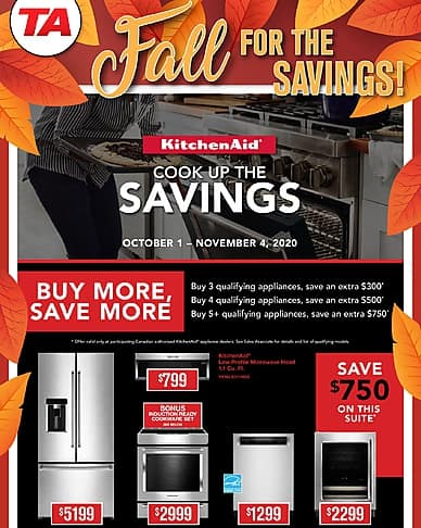 Fall for the Savings! | TA Appliances & Barbecues