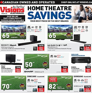 Home Theatre Savings | Visions Electronics