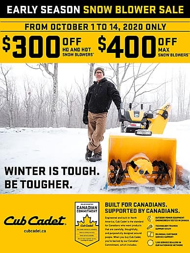 Early Season Snowblower Sale! | Cub Cadet