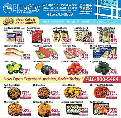 Weekly Flyer | Blue Sky Supermarket
