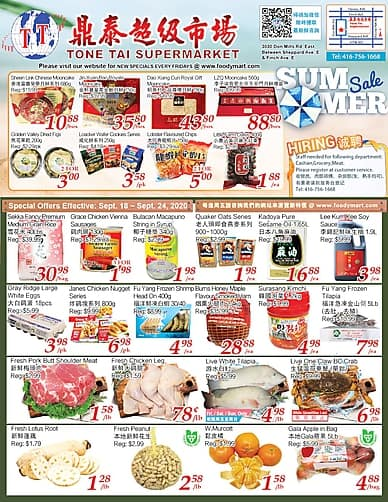 Weekly Flyer | Tone Tai Supermarket