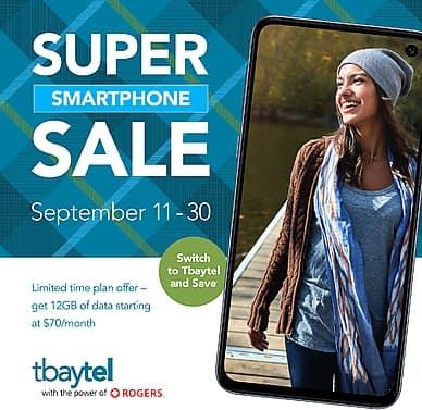 Super Smartphone Sale | tbaytel