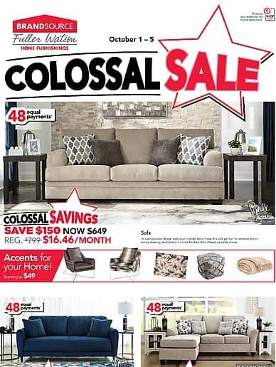 Colossal Sale | Fuller Watson BrandSource Furnishings
