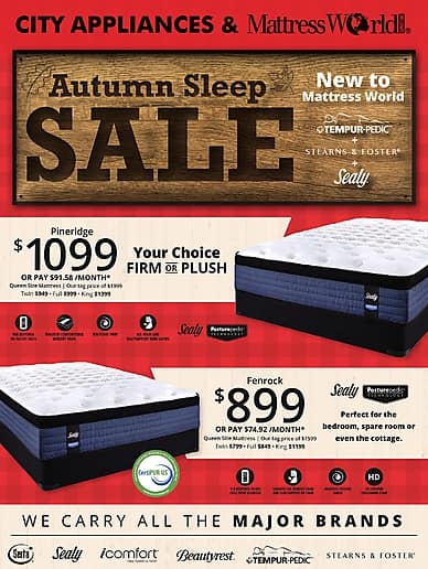 Autumn Sleep Sale | City Appliances and Mattress World