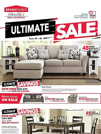 Ultimate Sale | Hambly's BrandSource Home Furnishings