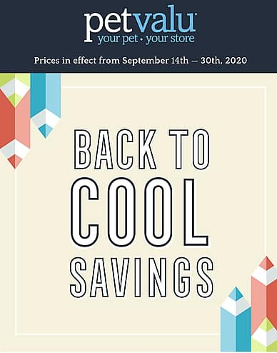 Back to Cool Savings | Pet Valu